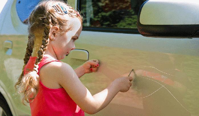 طريقة إزالة الخدوش من السيارة