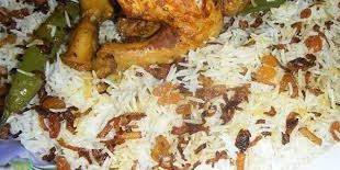 طريقة عمل أرز باب الهند بقدر الضغط