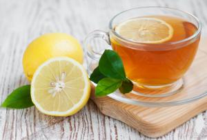 الليمون والشاي