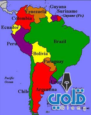 قارات العالم ودولها-جنوب أمريكا