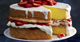 طريقة عمل الكيكة بدون بيض منال العالم