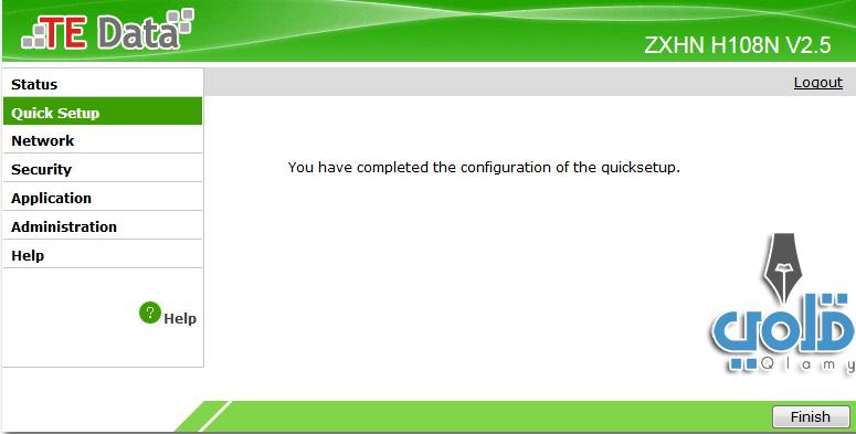كيفية تسطيب الراوتر بسرعة Quick setup te data router