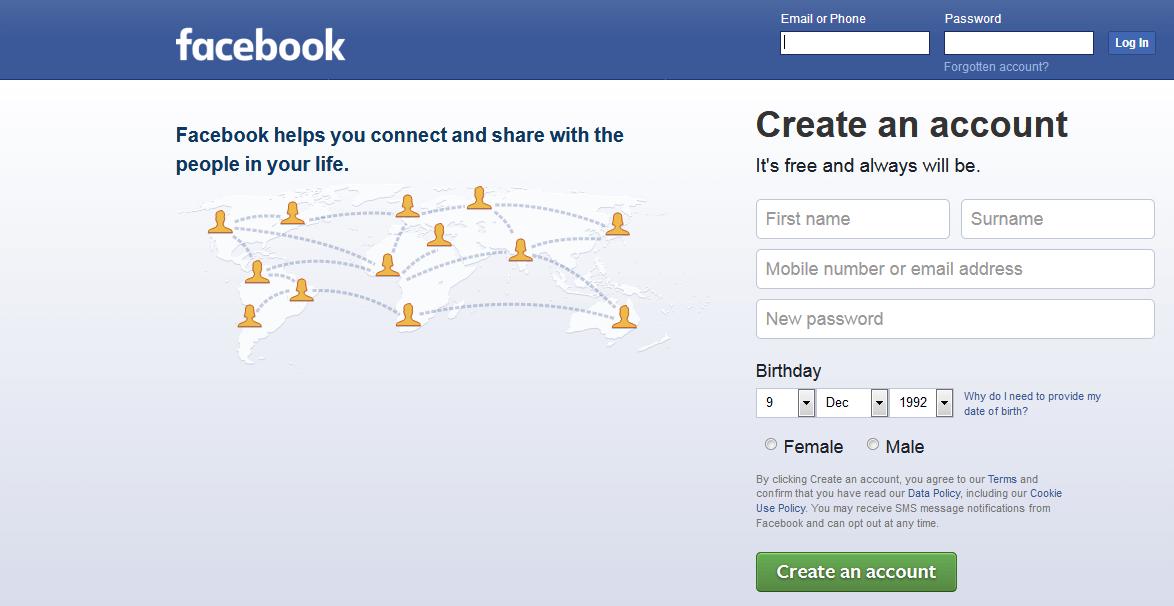 كيفية عمل صفحة فيس بوك شخصية