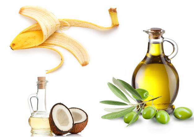 قشر الموز للشعر مع زيت الزيتون