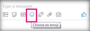 كيفية اختيار رمز تعبيري